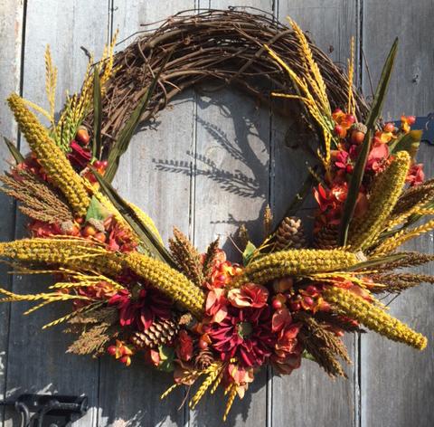 Corn wreath